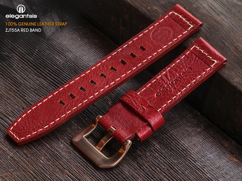 JT55A-紅色小牛皮錶帶(背面)