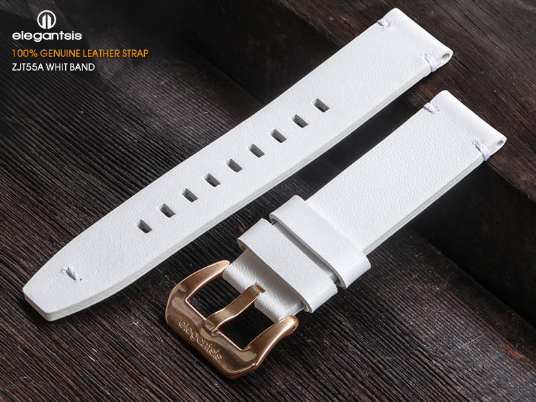 JT55A-白色小牛皮錶帶(正面)
