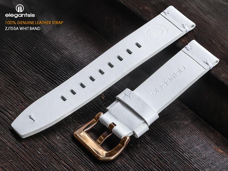 JT55A-白色小牛皮錶帶(背面)