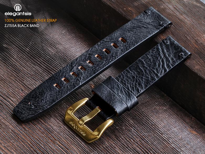JT55A-黑色小牛皮錶帶(正面)
