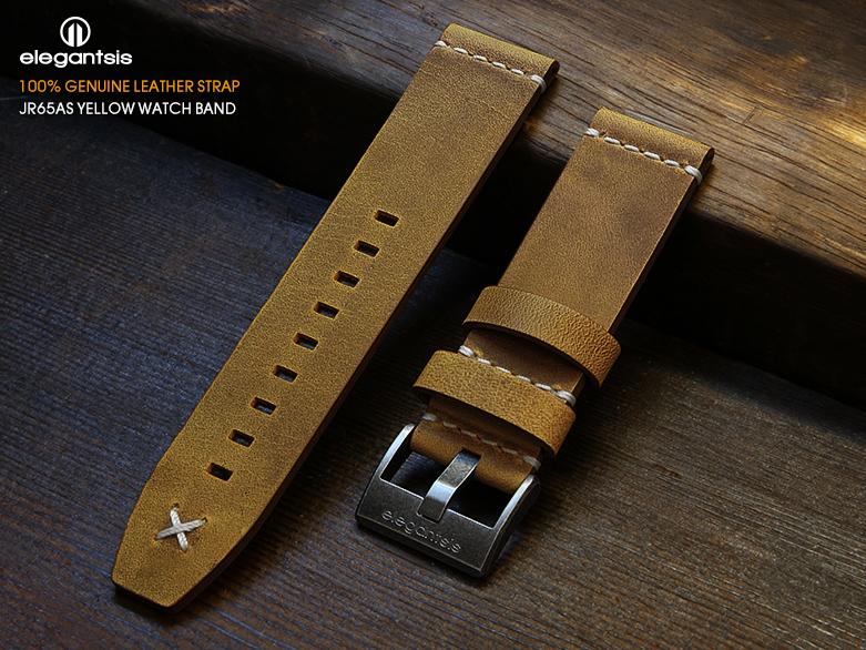 JR65AS-黃色小牛皮錶帶(正面)