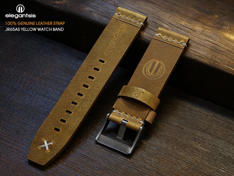 JR65AS-黃色小牛皮錶帶(背面)