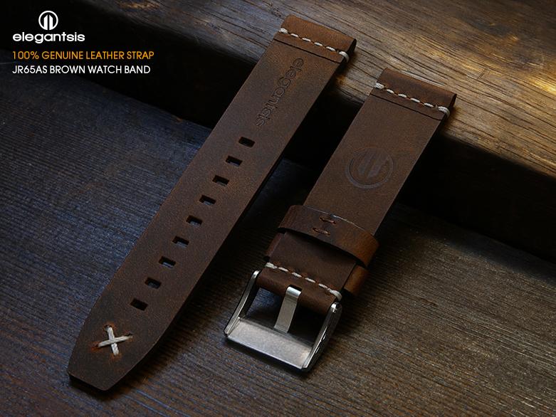 JR65AS-棕色小牛皮錶帶(背面)
