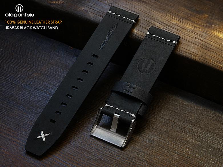 JR65AS-黑色小牛皮錶帶(背面)