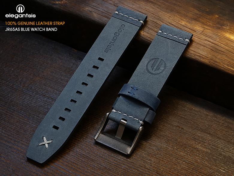 JR65AS-藍色小牛皮錶帶(背面)