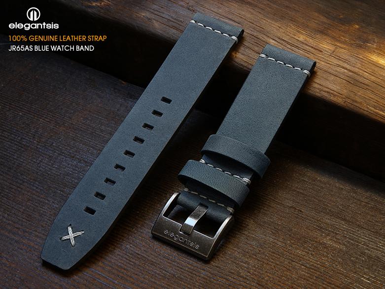 JR65AS-藍色小牛皮錶帶(正面)
