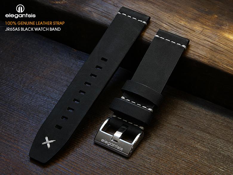 JR65AS-黑色小牛皮錶帶(正面)