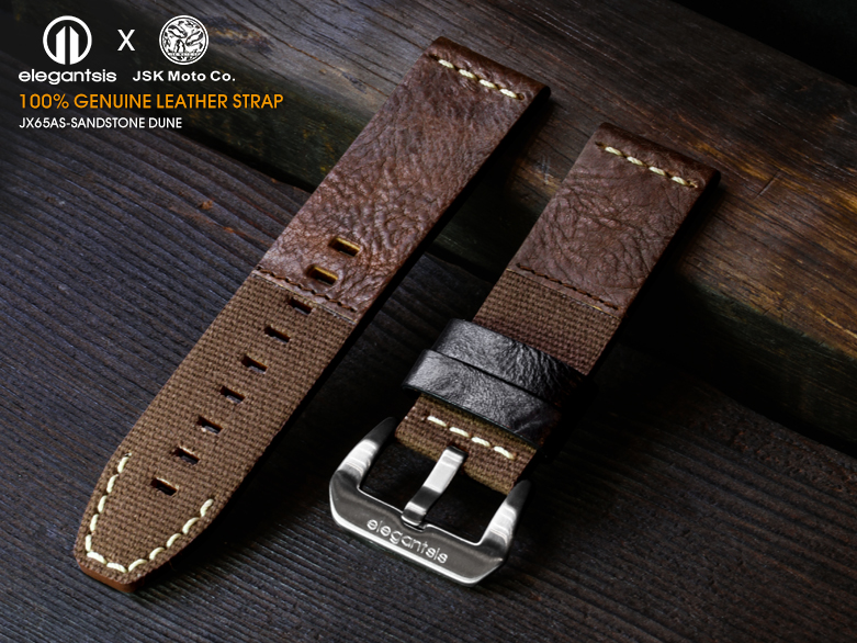 JX65AS-JSK-100%頂級柔軟真小牛皮錶帶