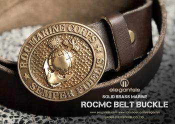 海軍陸戰隊-黃銅皮革腰帶