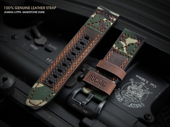 JX48AS-LVTP5 特別式樣虎紋迷彩牛皮錶帶